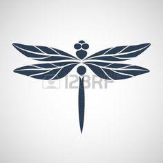 libellule dessin: Abstract design libellule