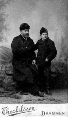 David Ericsson isänsä kanssa. Kuva: Yksityisarkisto.