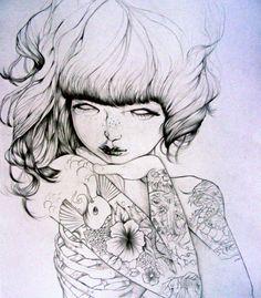 Tattooed women army by Anita Goldstein