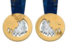 2014 Olympic Medals.  Interesting details in the middle.