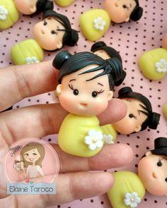 Apliques de Biscuit, apliques bebês japonesinhas