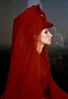 Barbra Streisand in High Dramatic Red