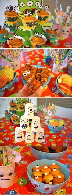 Alles für die Monsterparty: Monsterdeko, Pappgeschirr von Tambini, Partyspiele