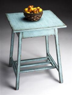 Accent Table in French Blue