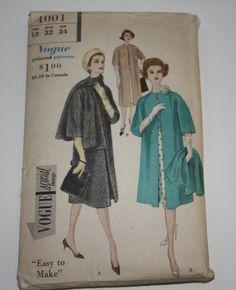 Vogue Pattern 4001 circa 1959 by HandcraftsandJewels on Etsy