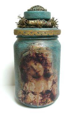 Altered Decoupage Jar