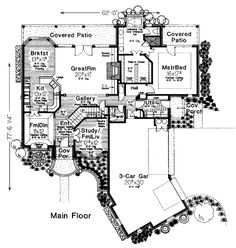 European French Country Victorian House Plan 98568 Level One