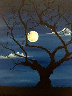 Paint Nite. Spooky Sundown