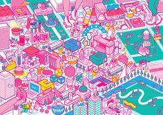 Victionary Citix60 Illustrated Map Cover Jacket - Ellen Porteus Portfolio - The Loop