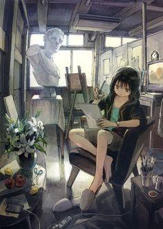 Cool Anime Girl, Anime Art Girl, Japon Illustration, Anime Scenery Wallpaper, Image Manga, Manga Drawing, Animes Wallpapers, Cartoon Art, Aesthetic Anime