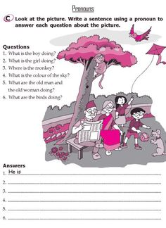 Grade 2 Grammar Lesson 8 Pronouns (3) English Grammar For Kids, Teaching English Grammar, English Worksheets For Kids, English Lessons For Kids, Kids English, English Writing Skills, English Activities, Grammar Lessons, English Language Learning