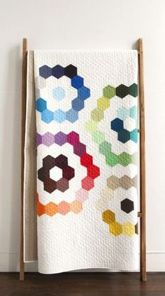 Modern Solids Hexagon Bundle Mae's Bouquet quilt pattern