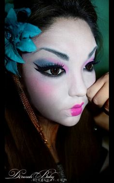 Geisha inspired makeup