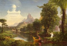 """Voyage of Life"" by Thomas Cole - one of four magical paintings at National Gallery, incredible philosophy hidden in each of them"