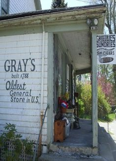 Shop - Gray's General Store, 4 Main Street, Little Compton (Adamsville) Old General Stores, Old Country Stores, Country Life, Country Roads, Country Store Display, Small Town America, North America, Old Gas Stations, Soda Fountain