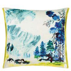 Shanshui Cobalt Cushion