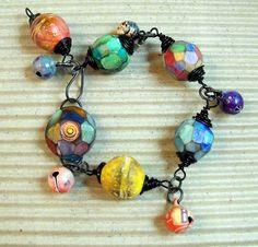 Harlequin Bracelet with little Bells   Flickr - Photo Sharing!