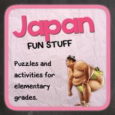Japan (Fun stuff for elementary grades) from Thematic Worksheets on TeachersNotebook.com -  (14 pages)  - Let's explore Japan with puzzles and other fun activities. This supplemental resource is great for a country unit.
