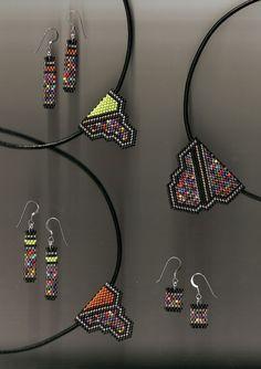 http://www.marycodybeadworks.com/page3.html: tubular peyote earrings peyote pendants miyuki seed beadwork