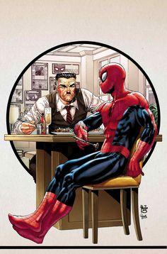 Spider-Man and J Jonah Jameson by Adam Kubert