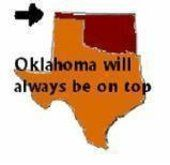 No... what we see here is Texas holding Oklahoma... and all the other states for that matter... on its shoulders... like Atlas...