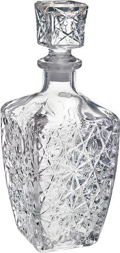 Glass Decanter Vintage Liquor Whiskey Crystal Bottle Jim Beam Wine Stopper Bar @ - Decanters - Ideas of Decanters History Of Glass, Crystal Decanter, Glass Crystal, Clear Glass, Crystal Glassware, Whiskey Decanter, Jim Beam, Wine Stoppers, Kare Design