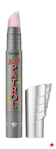 Benefit's Air Patrol BB cream eyelid primer protects and preps your eyes with a creamy crease-free formula. Apply to eyelids before applying makeup to protect delicate skin from sun, smoke, pollutants and dryness.