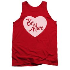Valentine's Day Tank Top Be Mine Red Tanktop Officially Licensed Available in Small, Medium, Large, XL & Our Valentine's Day shirts feature colored designs to celebrate love and romance. Red Tank Tops, Valentines Day Shirts, Printed Tank Tops, Print Tank, Cute Shirts, Tank Man, Long Sleeve Tees, Vintage Fashion, Mens Tops