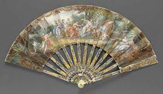 Folding fan, French, 1765–80, After Noël-Nicholas Coypel. Museum of Fine Arts, Boston.
