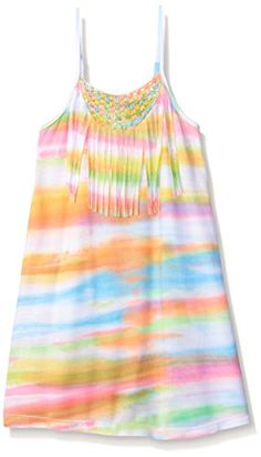 Flowers by Zoe Big Girls Fringe Crochet Dress Multi Small *** Click image for more details.