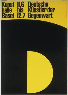 Armin Hofmann. D, Deutsche Künstler der Gegenwart, Kunsthalle Basel, 11.6 bis 12.7. 1960
