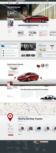 Toyota Website  Website design layout. Inspirational UX/UI design sample.  Visit us at: www.sodapopmedia.com #WebDesign #UX #UI #WebPageLayout #DigitalDesign #Web #Website #Design #Layout