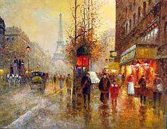 Museum Quality Oil Painting#CST-151:Paris Eiffel Tower Scenery