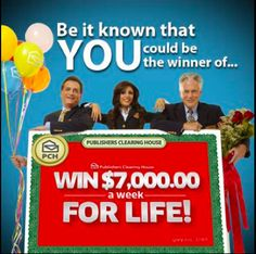 Yes Ernest Morris I want to win Big Win For Life, Prize Giveaway, Publisher Clearing House, Online Sweepstakes, Winning Numbers, Cash Prize, I Smile, Things I Want, Lol