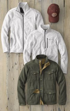 Men's Radiator Fleece 1/4 Zip and 4-Pocket Jacket