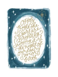O Holy Night Sky Art Print by Alethea and Ruth   Minted