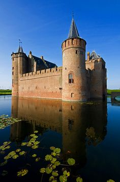 Castle Muiderslot, Netherlands - #JetsetterCurator #castle #chateau #castillo Book a chic urbane hotel, cozy boutique hotel, or magnificent chateau through www.jetsetter.com. Be the king of your castle!