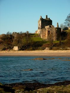 Ravenscraig Castle, Fife, Scotland. One of the earliest artillery forts in Scotland, it was begun for James !! in 1460.