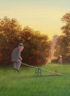 Gerhard Glück combines visual humour with social commentary. I like it wen he works on age.