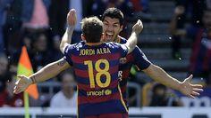 Con tres goles de Luis Suárez ante Granada se consagró campeón de la temporada 2015-2016