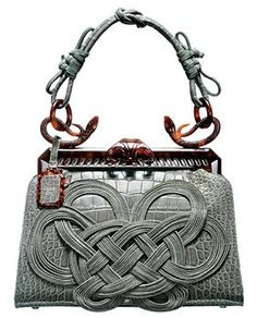 "I love Celtic knots: Dior ""Samourai 1947 Japanese Knot"" Handbag by Galliano for Dior's 60th anniversary"