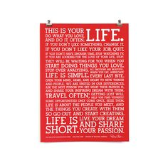 Holstee: The Manifesto Red Fab Exclusive