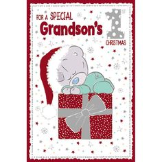 Special Grandsons 1st Christmas Me to You Bear Christmas Card  £2.49