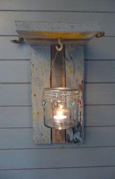 lampje+gemaakt+van+aangespoeld+hout+uit+Atlantische+Oceaan door+Ankie Anna+E++Wonen