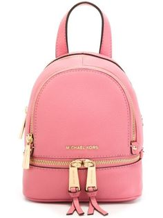 Michael Michael Kors Rhea Extra-small Leather Backpack In Misty Rose Red Backpack, Backpack Bags, Fashion Backpack, Rucksack Bag, Travel Backpack, Sac Michael Kors, Cute Backpacks, Leather Backpacks, Mk Bags