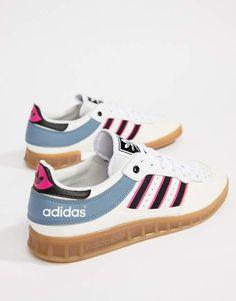 ASOS - adidas Originals Handball Top Sneakers In White CQ2313 --  Check  them out 8c91da898635