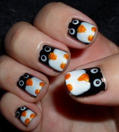 Penguins - Nail Art Gallery by NAILS Magazine