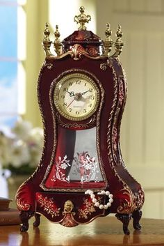 Musical Jewelry Box Clock