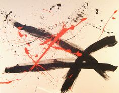 My Man Franz Kline - Jon Lander - abstract expressionist painting- acrylic and latex - 2008