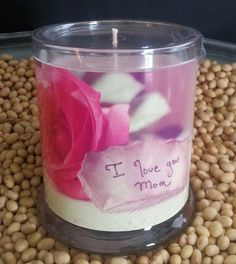Mothers Day Soy Candle in Fresh Cut Roses Scent by TaniasTorches